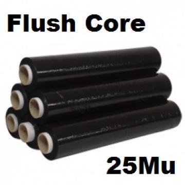 Pallet Wrap Black 25Mu - Box of 6 Rolls - FLUSH  - 500mm (Blown)