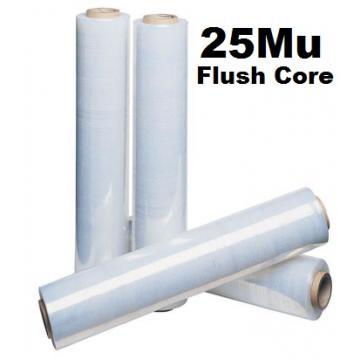 Pallet Wrap Clear 25Mu - Box of 6 Rolls - FLUSH CORE - 500mm
