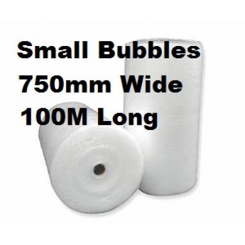 Bubble Wrap Small Bubbles - 750mm x 100M Roll