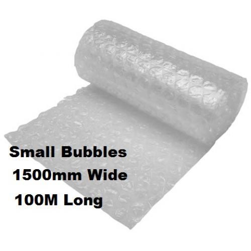 Bubble Wrap 1500mm x 100M Small Bubbles