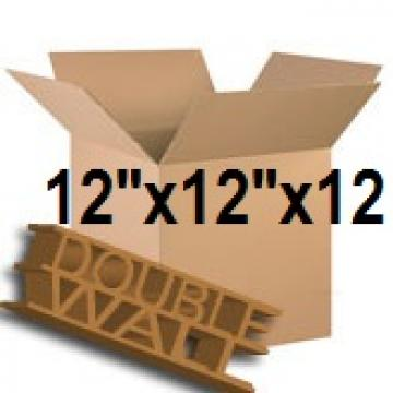 "Double Wall Storage Packing Boxes 12""x 12""x 12"" Inch - 50 Boxes"