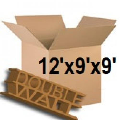 """Double Wall Storage Packing Boxes 12""""x 9""""x 9"""" Inch - 50 Boxes"""