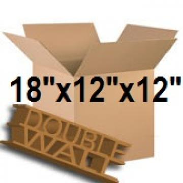 "Double Wall Storage Packing Boxes 18""x 12""x 12"" Inch - 50 Boxes"