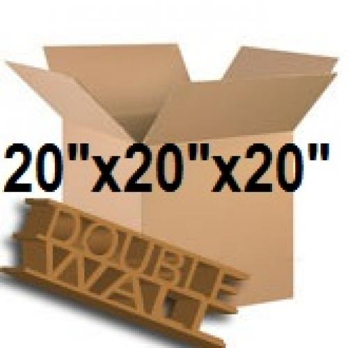 "Double Wall Storage Packing Boxes 20""x 20""x 20"" Inch - 50 Boxes"