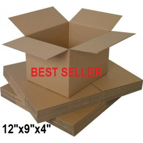 """Single Wall Small Cardboard Boxes 12""""x 9""""x 4"""" Inch - 50 Boxes"""