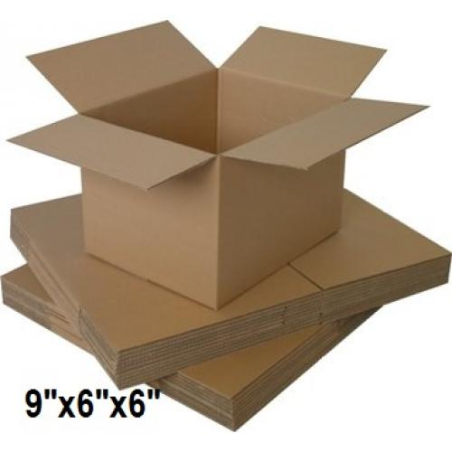 "Single Wall Small Cardboard Boxes 9""x 6""x 6"" Inch - 50 Boxes"