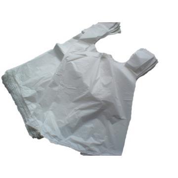 """1000 x White Plastic Vest Carrier Bags 11x17x21"""""""