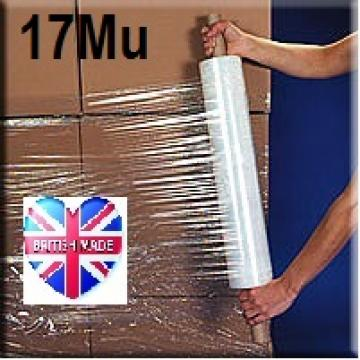 Pallet Wrap Clear 17Mu - Box of 6 Rolls - Ext Core - 400mm