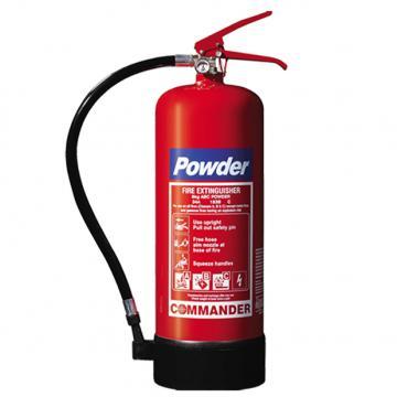 1 x 6kg ABC Dry Powder Fire Extinguisher With Bracket