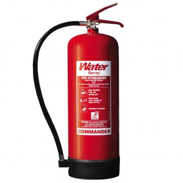 1 x 9 Litre (9L) Water Fire Extinguisher With Bracket