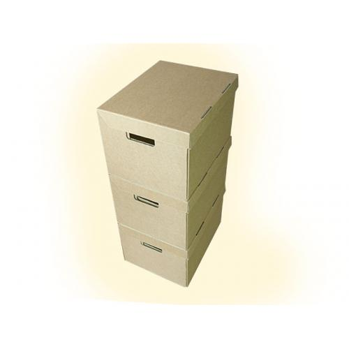 "A4 Archive Filing Cardboard Boxes With Handles 15""x12""x9"" - 10 Boxes"