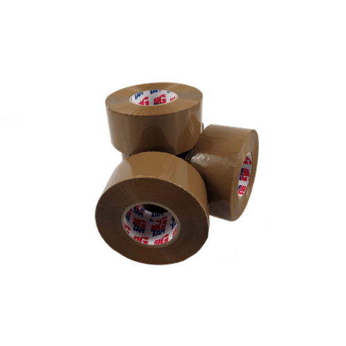 BIG' LOW NOISE Brown Bonus Tape 50mm x 150M x 36 Rolls
