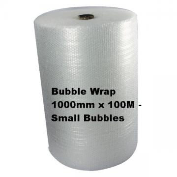 Bubble Wrap 1000mm x 100M Small Bubbles