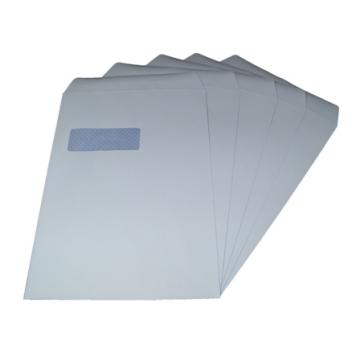250 x C4/A4 White Window Self Seal Envelopes 324x229mm , 90gsm