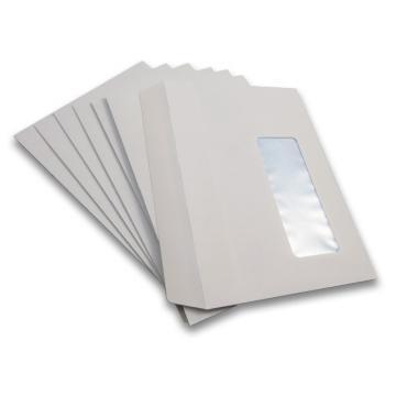 1000 x C6 White Window Self Seal Envelopes 114x162mm , 80gsm