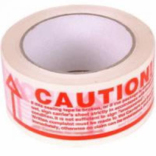 CAUTION Printed Sealing Tape 48mm x 66m x 36 Roll Box