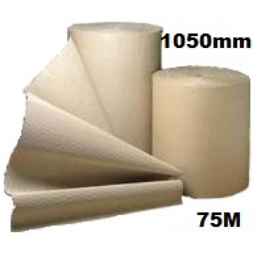 Corrugated Cardboard Paper Roll - 1050mm  x 75m (Single Roll)