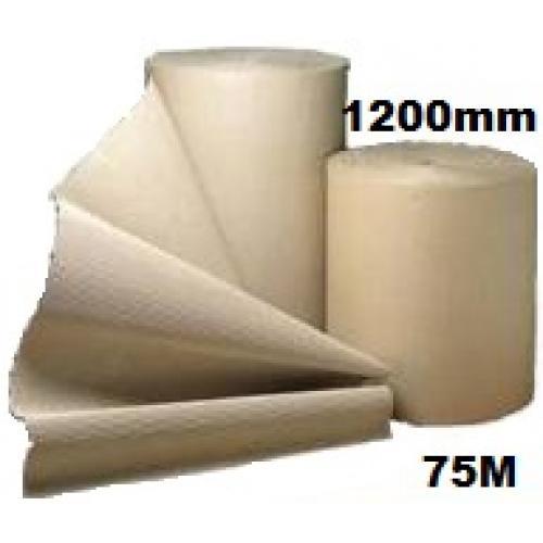 Corrugated Cardboard Paper Roll - 1200mm  x 75m (Single Roll)