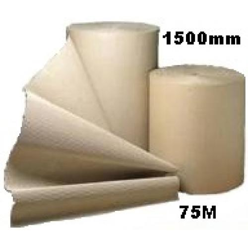 Corrugated Cardboard Paper Roll - 1500mm  x 75m (Single Roll)