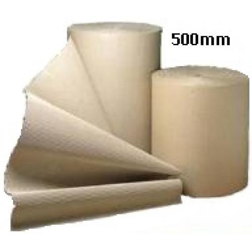 Corrugated Cardboard Paper Roll - 500mm  x 75m (Single Roll)