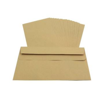 1000 x DL Manilla Plain Self Seal Brown Envelopes 110x220mm, 80gsm