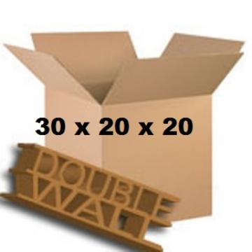 "Double Wall Storage Packing Boxes 30""x 20""x 20"" Inch - 50 Boxes"