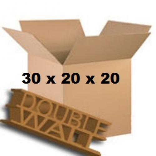 """Double Wall Storage Packing Boxes 30""""x 20""""x 20"""" Inch - 50 Boxes"""