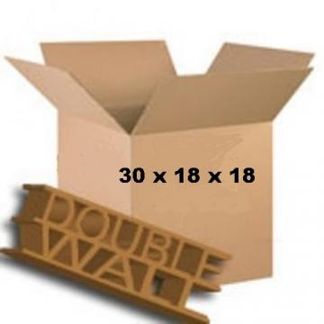 "Double Wall Storage Packing Boxes 30""x 18""x 18"" Inch - 50 Boxes"