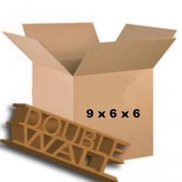 "Double Wall Storage Packing Boxes 9""x 6""x 6"" Inch - 50 Boxes"
