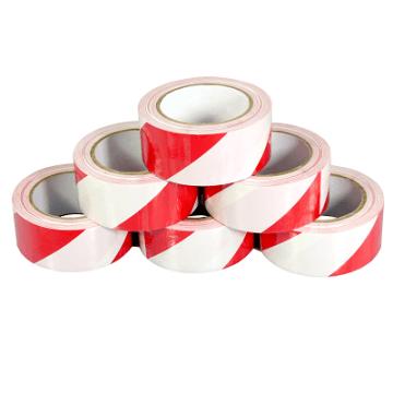 Red/White PVC Hazard Warning Tape 50mm x 33M x 6 Rolls