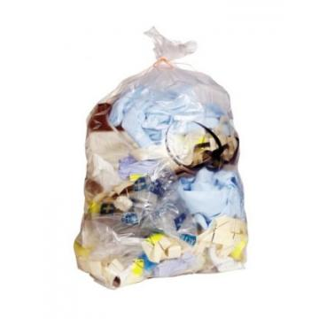 "100 Economy Clear Refuse Sacks, 120 Gauge - 18""x29""x39"""