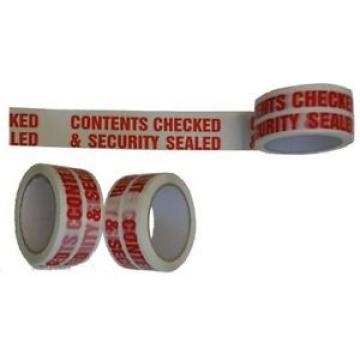 CONTENTS CHECKED Printed Packing Tape 48mm x 66m x 36 Roll Box