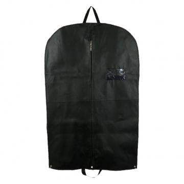 2 x Premium Black Heavy Duty Suit Garment Covers Carriers With Handles