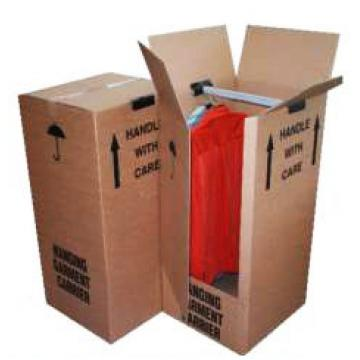 "Wardrobe Removal Double Wall Boxes - 20""x19""x49""  x 5 Units"